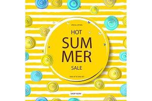 3 Summer discounts. Banner.