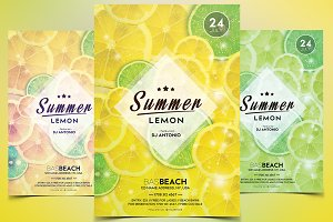 Summer Lemon - PSD Flyer Template