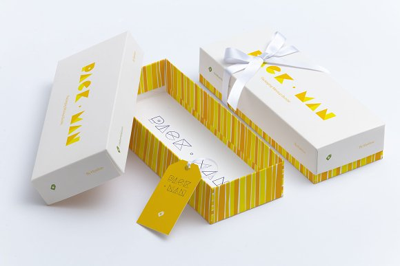 Rectangular Gift Box Mockup 03