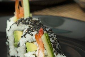 Sushi in restaurant
