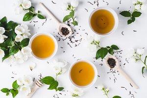 Green tea with a jasmine