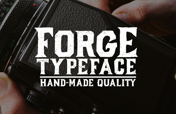 Forge Typeface