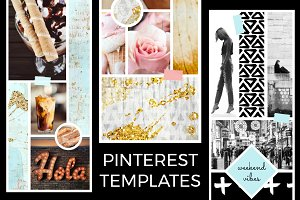 July Pinterest Templates