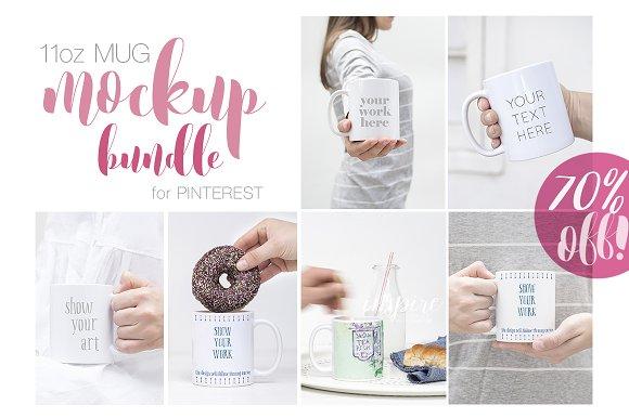 11oz Mug Mockup Pinterest Bundle IG