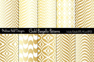 Gold Bargello Patterns