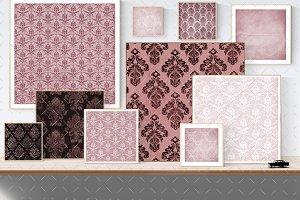 Pink vintage wallpaper textures