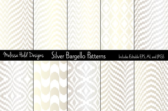 Silver Bargello Patterns