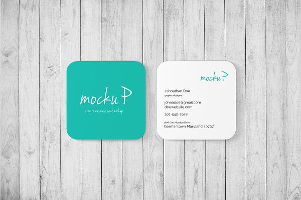Square Business Card - Rounded Cor.