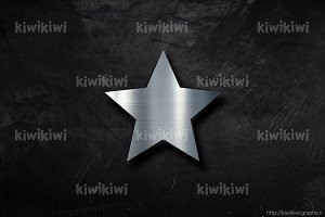Metal star background