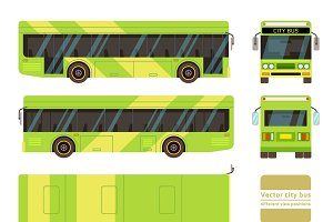 Vector city bus