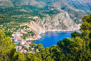 Assos Village at Kefalonia island in Greece