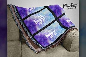 Panel Blanket Mockup