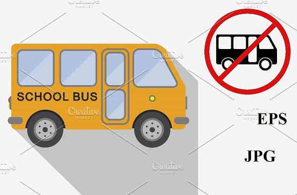 School Bus Icons