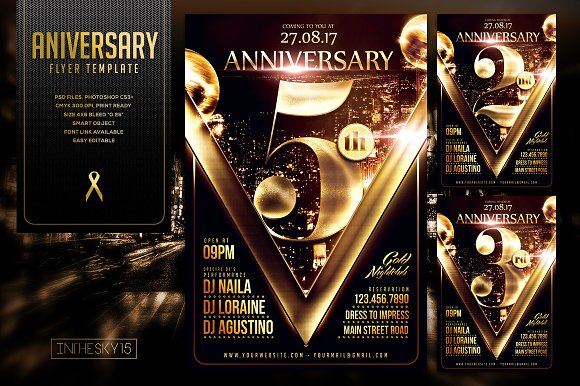 Anniversary Flyer Template Flyer Templates Creative Market – Anniversary Flyer