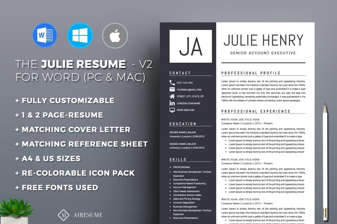 resume cv template resume templates creative market