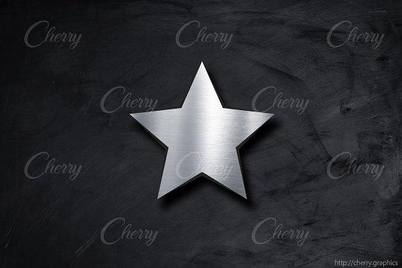 Steel Metal Star Background