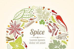 Spices and herbs composition