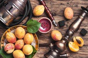 Shisha hookah with apricot