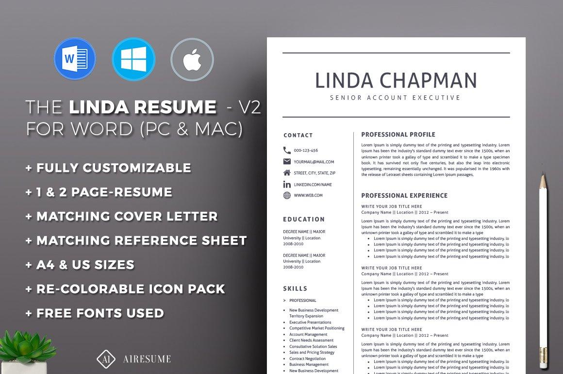 Resume/CV Template ~ Resume Templates ~ Creative Market
