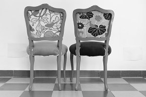 Chairs in Black and White