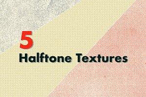 5 Grunge Halftone Textures
