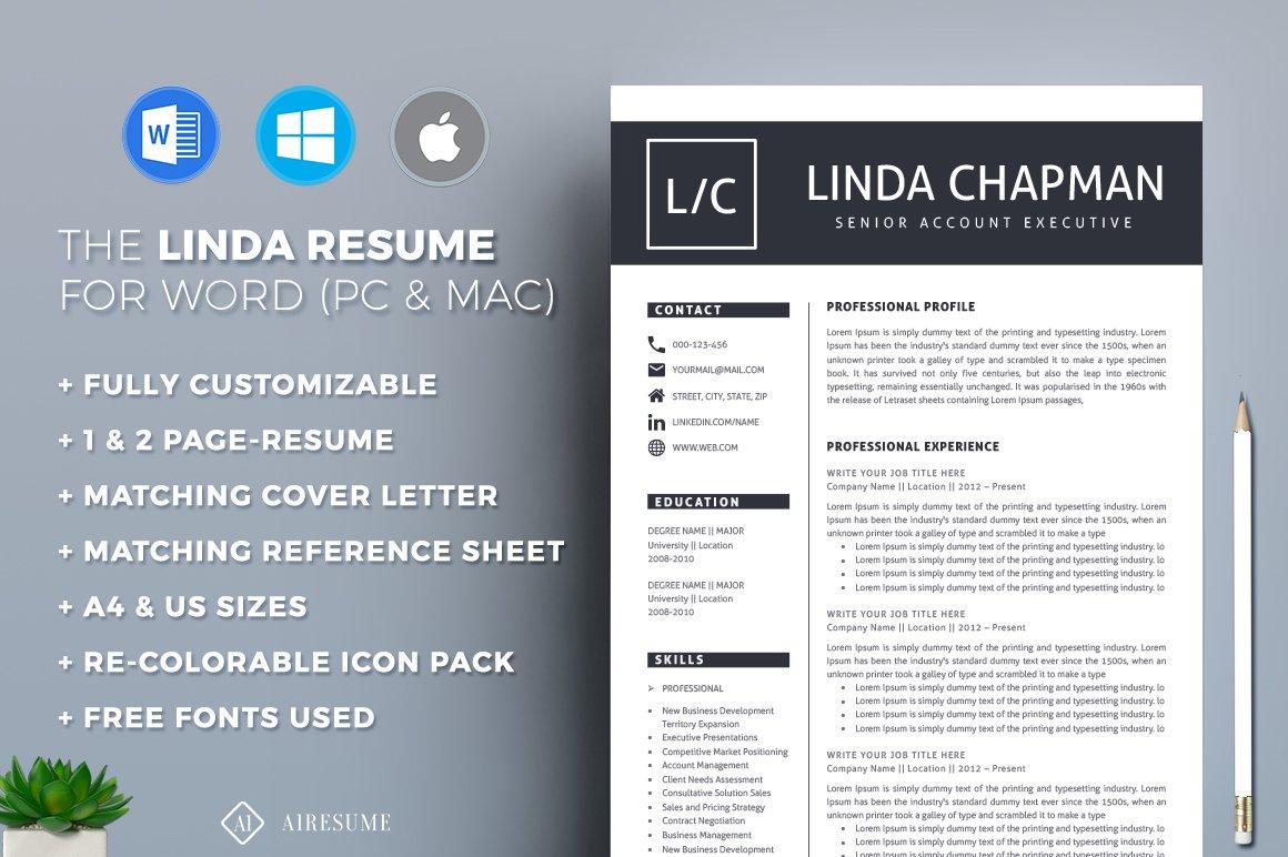 Resumecv Template Resume Templates Creative Market