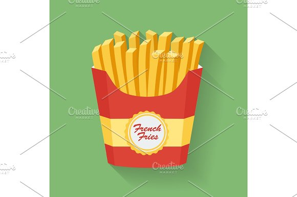 Icon Of French Fries