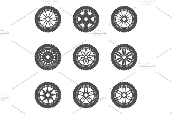 Set Of Car Rims Tires