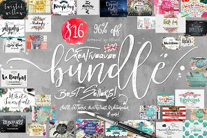 96% OFF Font Bundle Plus Graphics