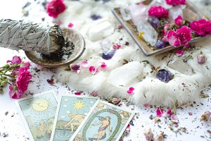 Sage Crystals and Tarot
