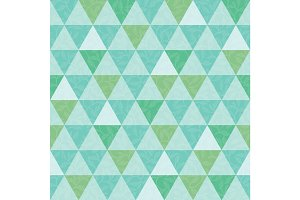 Vector blue and green triangle and leaves texture seamless repeat pattern background. Perfect for modern fabric, wallpaper, wrapping, stationery, home decor projects.