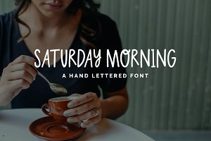 Saturday Morning-Hand Lettered Font