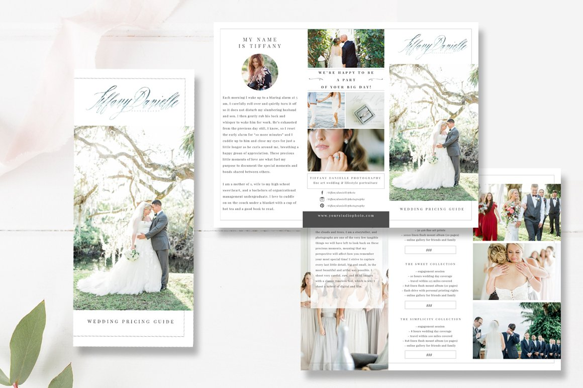 wedding brochure template - wedding photographer brochure psd brochure templates