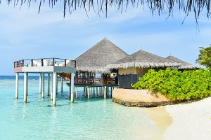 Tropical island resort,Maldives