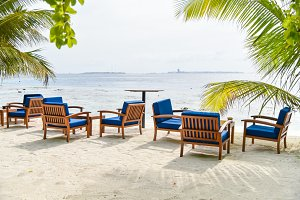 Chairs on the beach,Maldives