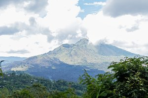 Batur volcano - Bali, indonesia. Mountain Batur on a tropical Bali island.