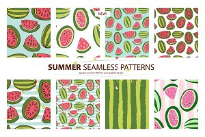 NEW! 8 Watermelon summer patterns!