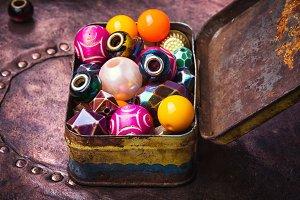 Colorful fashion beads