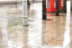 Red Phone cabines in London and vint