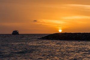 Sea sky and sunset