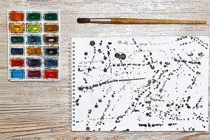 13 JPG Abstract black ink splash