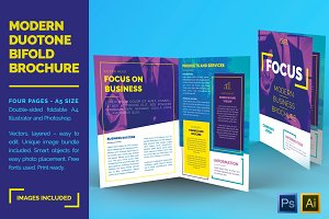 Duotone Bifold Business Brochure