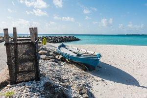 Boat in Maafushi Island