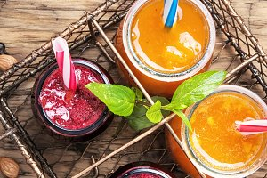 Fresh smoothies with apricot