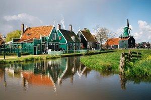 Zaanstad village, Netherlands