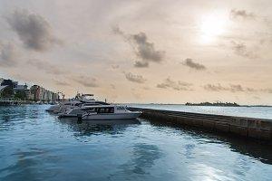 Speed boat in Male,Maldives
