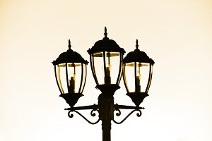 Standard lamp on street