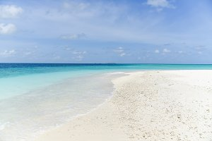 Sand Bank beach at Maldives