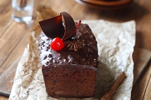Chocolate Cherry Fruit Cake
