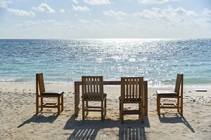 Chairs on the beach